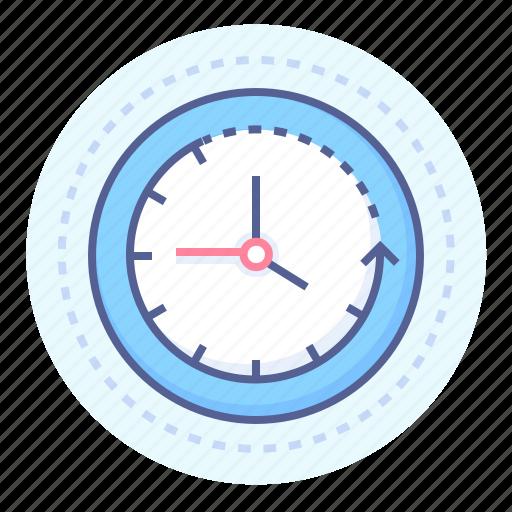 clock, clockwise, clockwork, lapse, passage, progress, time icon