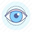 eye, eyesight, iris, looking, pupil, seeing, vision icon