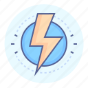 danger, electricity, high, hot, lightning, voltage, wire icon