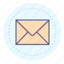 email, envelope, letter, mail, message, sealed, unread icon