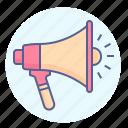 amplifier, announcement, bullhorn, loud, loudhailer, megaphone, speaker