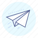 correspondence, flying, message, paper, plane, send icon