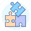 brainstorming, game, jigsaw, pieces, puzzle, solution icon