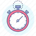 clock, stopwatch, time, timekeeper, timer, timing, watch icon