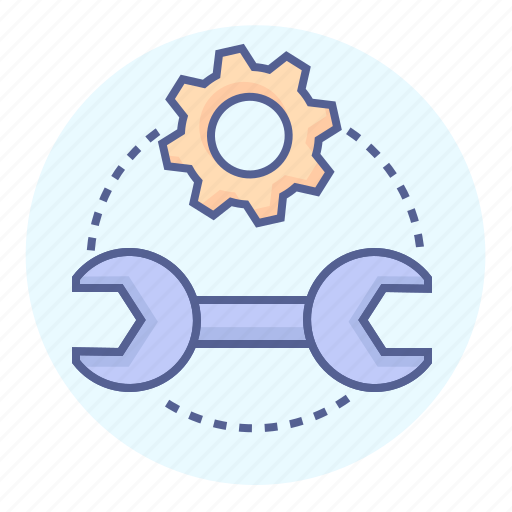 cog, gear, repair, technical, tools, work, wrench icon