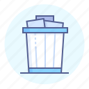 bin, trash, letter, can, rubbish, basket, waste