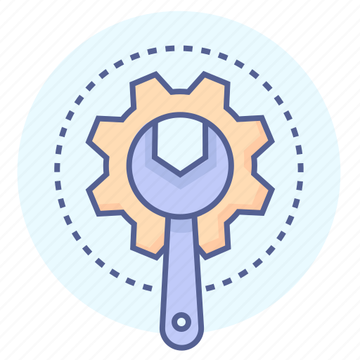 cog, mechanic, repairing, technical, tools, wrench icon
