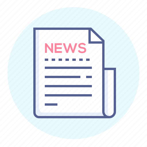 news, newsletter, newspage, newspaper, page, text icon