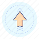 above, arrow, to the top, top, up, upward, upwards icon