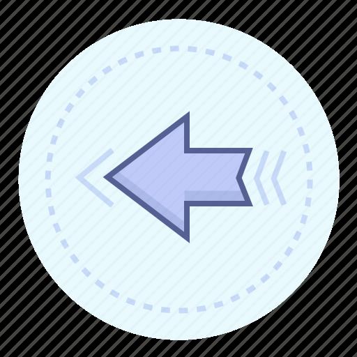 arrow, back, left, leftward, leftwards, reverse, to the left icon