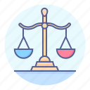 court, jurisprudence, justice, law, legislation, scales, scales of justice icon