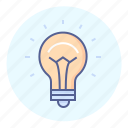 bright, bulb, burst of inspiration, idea, light, light bulb icon