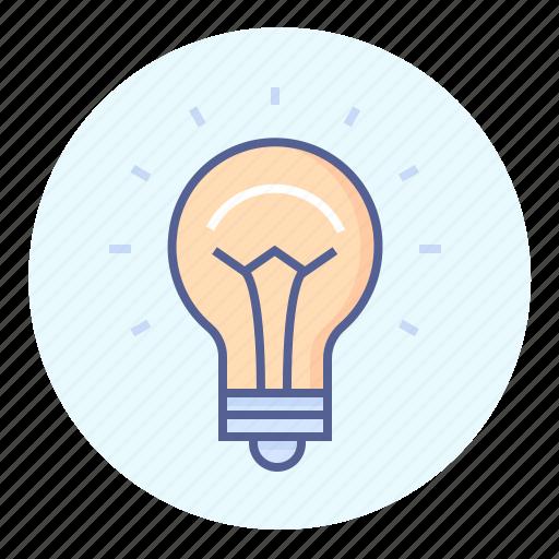 bright, bulb, burst of inspiration, idea, light, light bulb icon