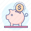bank, finance, money, piggy bank, ppiggy, saving, savings icon