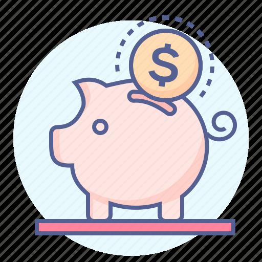 bank, finance, money, piggy bank, ppiggy, saving, savings icon