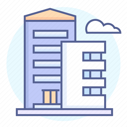 building, buildings, business, center, house, houses, office icon