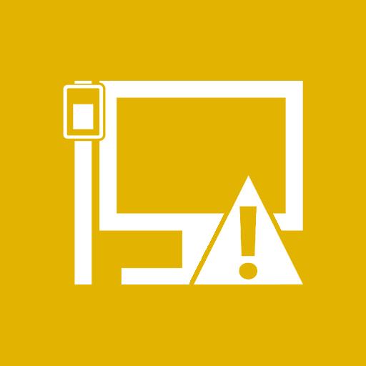 caution, lan icon