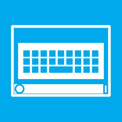 keyboard, on, screen icon