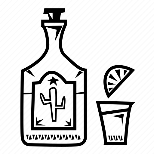 agave, alcohol, mexican, shot, south, tequila icon