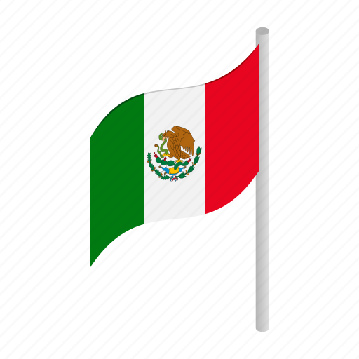 country, flag, isometric, mexico, national, patriotic, patriotism icon