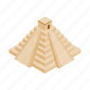 ancient, isometric, mayan, mexican, mexico, pyramid, ruin icon