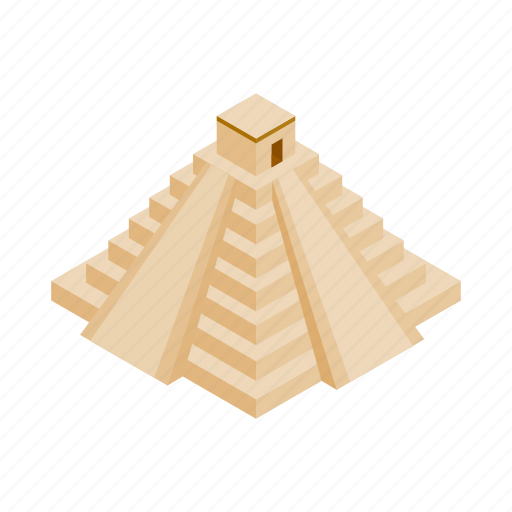 ancient, isometric, mayan, mexican, mexico, pyramid, ruin icon