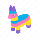 animal, donkey, drawing, horse, isometric, mexico, mule icon