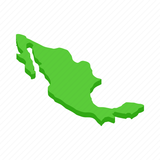 Cartography, country, geography, isometric, map, mexican, mexico icon