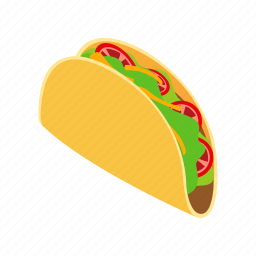 dinner, food, isometric, meal, meat, mexican, tortilla icon