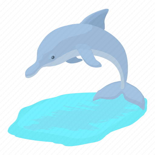 cartoon, dolphin, drawing, life, mammal, underwater, water icon