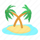 cartoon, destination, island, palm, sunny, travel, tropical icon