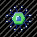 computer components, processor, microchip, circuit