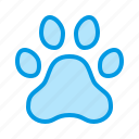dog, paw, pet, print, track icon