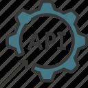 api, integration, cog, gear, management icon
