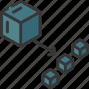 decoupling, blocks, block icon