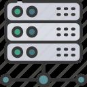 network, server, servers icon