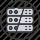 serverless, servers, prohibited icon