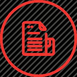 data, file, microsite, paper, part, set, type icon