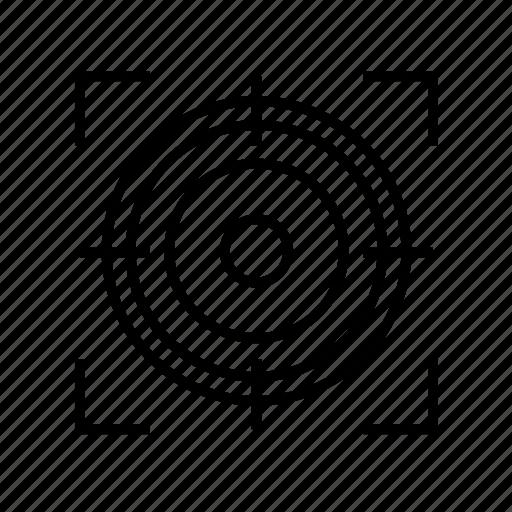 aim, crosshair, crosshairs, target icon
