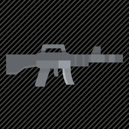 gun, m16, rifle, soldier, war icon