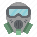 gas, glasses, mask, protection, safety icon