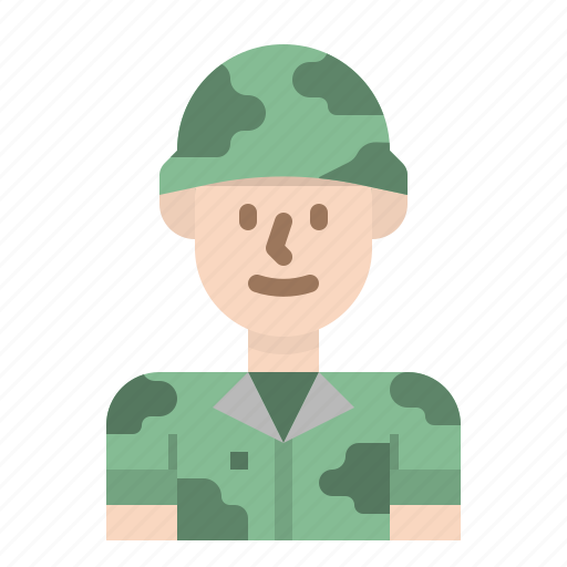army, job, military, professions, soldier icon