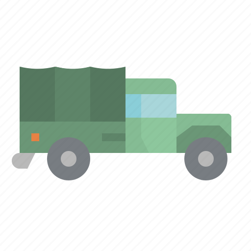 army, delivery, shipping, transport, truck icon