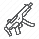 army, firearm, gun, military, submachine, weapon icon
