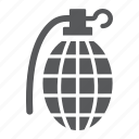 army, bomb, grenade, hand, military, weapon icon