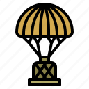 aircraft, airdrop, military, parachute icon