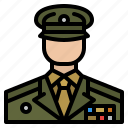 man, commander, military, army icon