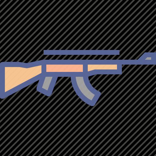 ak, automatic, rifle, shoot icon