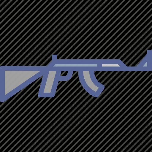 automatic, gun, rifle, shoot icon