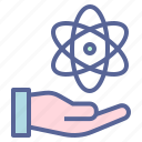atom, atomic, energy, nuclear icon